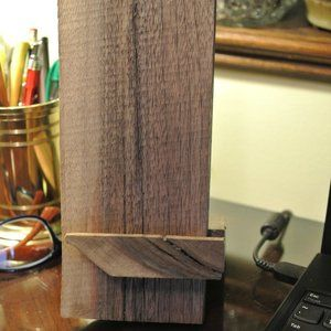 IPhone / Cell Phone Walnut Stand - Handcrafted